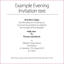 examples of evening wedding invitations wordings the best
