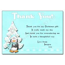 christmas thank you cards penguin christmas thank you note