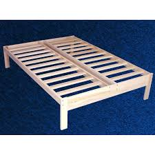 Solid Wood Bed Frame King Greenhome123 Unfinished Solid Wood Platform Bed Frame In Size Twin