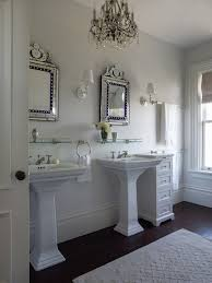 Glass Shelves For Medicine Cabinet His And Her Medicine Cabinets Cottage Bathroom Rue Magazine