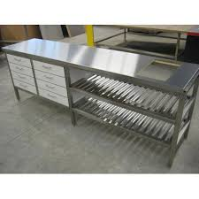 stainless steel work table stainless steel work table at rs 25000 unit stainless steel ki