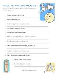 nursery rhyme baby shower name that nursery rhyme quiz printable baby shower