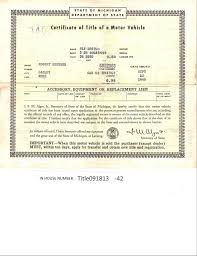 vintage 1938 plymouth 2dr auto title only historical document from
