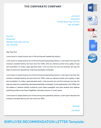 employee recommendation letter template 28 images 20 employee