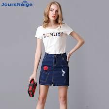 women s skirts blue mini skirts womens 2017 summer new retro ripped