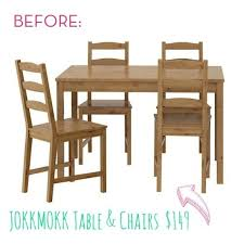 ikea outdoor table and chairs before and after old ikea table and chairs get a fresh new look