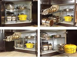 Organizing Pots And Pans In Kitchen Cabinets Organize Pots Pans Cabinet With Rev A Shelf Products Available At