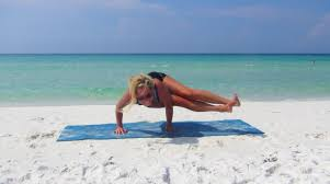 beach yoga balance pose pictures fort walton beach florida