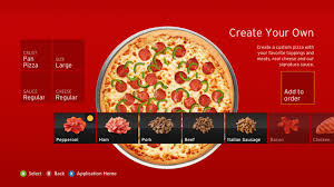 pizza hut launching xbox 360 app that lets console owners order