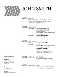 Plain Resume Template Simple Resume Template