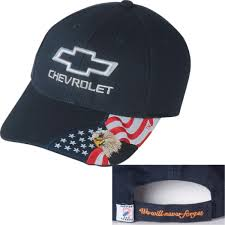 Flags And More Hossrods Com Chevy Hat With American Flag And Bald Eagle