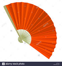 folding fans traditional folding fans illustration stock photo royalty free