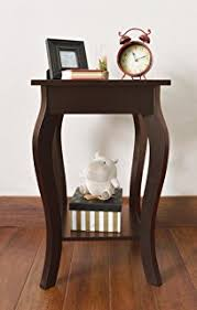 Curved Nightstand End Table Amazon Com Dhp Rosewood Tall End Table Simple Design Multi