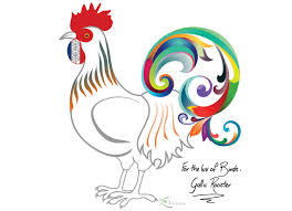 Kids Room Prints by Colorful Bird Print Poster Gallic Rooster Symbol Of France