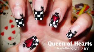 queen of hearts inspired nail art youtube