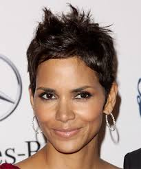back view of halle berry hair women with short hair are beautiful attractive actresses with