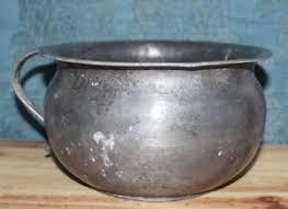 pot de chambre de la pot de chambre ancien en etain h 12 cm l 24 cm x 20 cm ebay