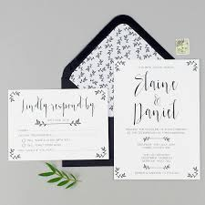 rsvp wedding modest wedding invitation and rsvp by eliza may prints
