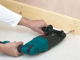 how to install baseboard on masonry stud and plaster and lath