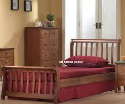 3ft single wooden bed frame sleepland milan dark oak bed