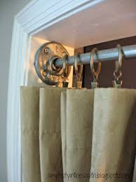 Shower Curtain For Closet Door How To Make A Galvanized Curtain Rod From Plumbing Parts