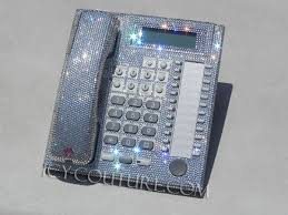 Cell Phone To Desk Phone Crystal Clear Icy Couture Home Office Desk Phone Whats Your Color