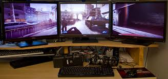 best gaming desk for 3 monitors triple screen gaming on today s graphics cards the tech report