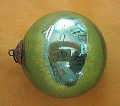 german green glass kugel ornament ornaments