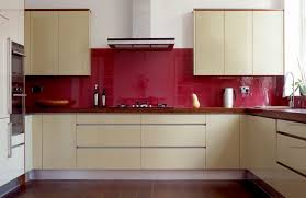 red kitchen tile backsplash interior design ideas and photo