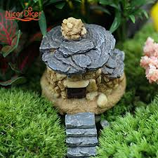 miniature house garden ornaments statue diy home