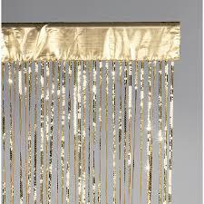 d罠co rideau de fils 罌 paillettes dor罠 250 cm d罠coration chez