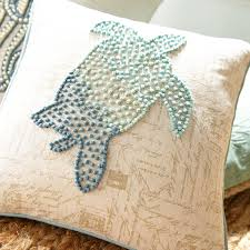 Pier One Peacock Pillow by French Knot Sea Turtle Aqua Pillow Pier 1 Imports