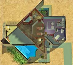 mod the sims 188 road to nowhere aka the triangle house