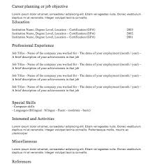 classic resume template resume template classic resume template