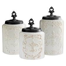 american atelier antique canisters set of 3 white target