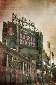 Boston Red Sox Shower Curtain Fenway Park Billboard Boston Red Sox Photograph By Joann Vitali