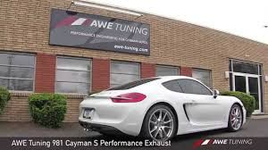 porsche cayman s performance awe tuning porsche 981 cayman s performance exhaust