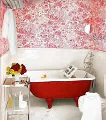 refreshingly bright bathroom ideas with colorful decorations
