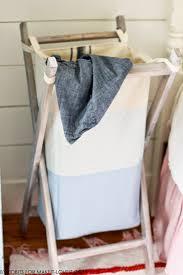 laundry hamper furniture diy foldable wood hamper