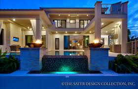 Ultra Luxury Home Plans Rear Elevation The Sater Design Collection U0027s Luxury Modern Home