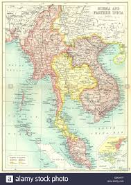 Map Burma Indochina Burma Siam Thailand Vietnam French Indochina Singapore