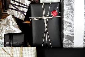 black gift wrap gift wrapping with seal gift wrappings wraps gift