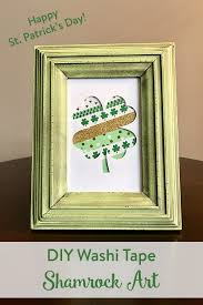 washi tape shamrock art u2022 st patricks day crafts u2022 the inspired home