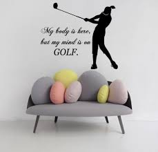 wall decals sport girl quote golf gym vinyl decal sticker murals wall decals sport girl quote golf gym vinyl decal sticker murals art decor
