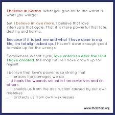 Karma Love Quotes by Badass Nerds U2014 I Believe In Karma U2026 But I Also Believe In Love U2026