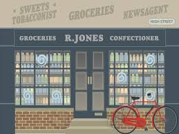 grocers dementia friendly wall mural life size enhance care homes grocers dementia wall mural