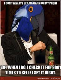 Paranoid Parrot Memes - the most interesting paranoid parrot in the world by imgod meme