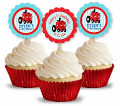 personalized cupcake toppers the tractor party personalized cupcake toppers