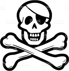 pirate skull cross bones stock vector more images of