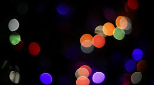 colorful question blinking lights as abstract background